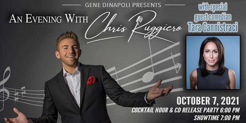 Chris Ruggiero & comedian Tara Cannistraci on October 7, 2021