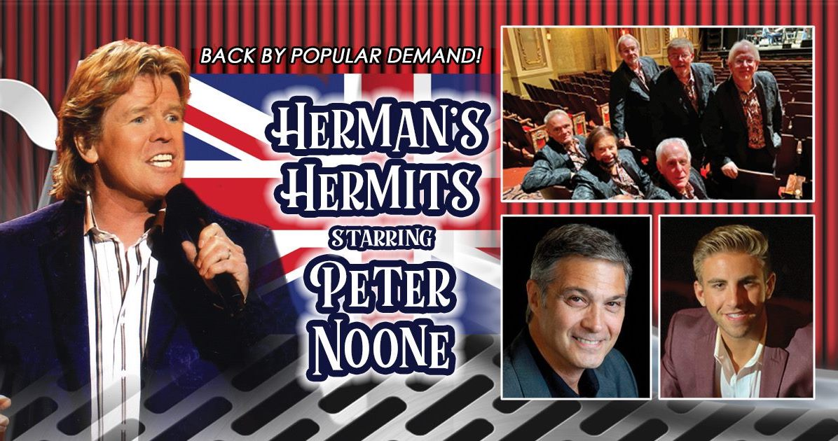 Stars of the Sixties return to Clermont on February 3, 2022 with Herman's Hermits starring Peter Noone, Dennis Tufano, The Cyrkle, & Chris Ruggiero